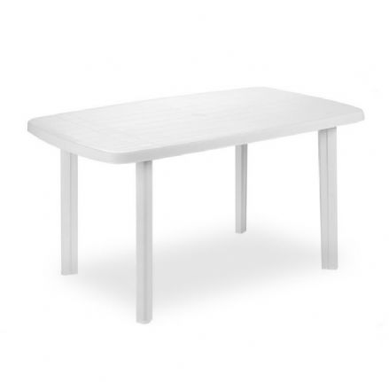 SupaGarden Plastic Oval Table - White